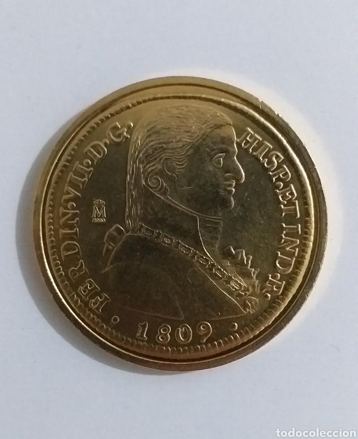 8 ESCUDOS FERNANDO VII 1809 SANTIAGO EXCELENTE CONSERVACIÓN/REPLICA/ (Numismática - Reproducciones)