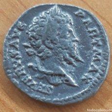 Reproduções notas e moedas: MONEDA ROMANA SÉPTIMO SEVERO DENARIO REPRODUCCIÓN. Lote 243804545