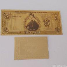 Reproducciones billetes y monedas: EXCLUSIVO BILLETE DE HARRY POTTER CON CERTIFICADO DE AUTENTICIDAD Y REGALO!!!. Lote 244417250