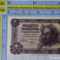 Reproducciones billetes y monedas: BILLETE REPRODUCCIÓN FACSÍMIL. COLECCIÓN TODOS LOS BILLETES DE LA PESETA. 1 PESETA 19 NOVIEMBRE 1951. Lote 244604675