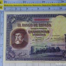 Reproducciones billetes y monedas: BILLETE REPRODUCCIÓN FACSÍMIL. COLECCIÓN TODOS LOS BILLETES DE LA PESETA. 500 PESETAS 7 ENERO 1935. Lote 244604995
