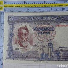 Reproducciones billetes y monedas: BILLETE FACSÍMIL. COLECCIÓN TODOS LOS BILLETES DE LA PESETA. 31 AGOSTO 1936 25 PESETAS. Lote 244607550