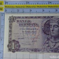 Reproducciones billetes y monedas: BILLETE FACSÍMIL. COLECCIÓN TODOS LOS BILLETES DE LA PESETA. 19 JUNIO 1948 1 PESETAS. Lote 244608300