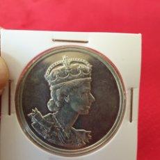 Reproducciones billetes y monedas: MONEDA CONMEMORATIVA QUEEN ELIZABETH. Lote 244768945
