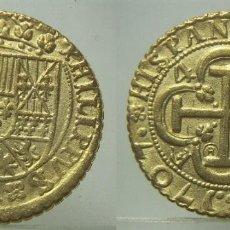 Reproduções notas e moedas: REPRODUCCION DE 4 ESCUDOS DE FELIPE V 1707. Lote 244872335