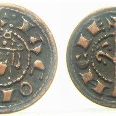 Reproduções notas e moedas: REPRODUCCION DE UN DINERO DE JAIME I VALENCIA. Lote 244885755