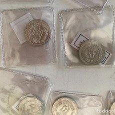 Reproducciones billetes y monedas: COLECCIÓN MONEDAS PLATA MUNICIPIOS PROVINCIA DE ALICANTE. NUMISMÁTICA. Lote 244983210