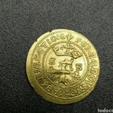 Reproducciones billetes y monedas: MEDIO EXCELENTE DE SEVILLA REYES CATÓLICOS ORO PURO. Lote 245014180