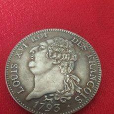 Reproducciones billetes y monedas: MONEDA LOUIS XVL ROI 1793. Lote 245133980