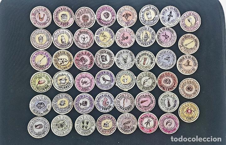 CARTON MONEDA USO PROVISIONAL 47 DIFERENTES DE GUADALAJARA (VER FOTOS) (Numismática - Reproducciones)