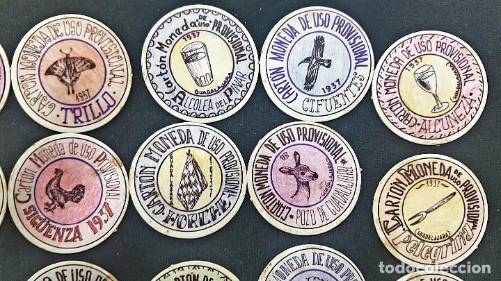 Reproducciones billetes y monedas: CARTON MONEDA USO PROVISIONAL 47 DIFERENTES DE GUADALAJARA (ver fotos) - Foto 6 - 245436170