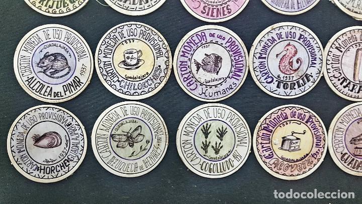 Reproducciones billetes y monedas: CARTON MONEDA USO PROVISIONAL 47 DIFERENTES DE GUADALAJARA (ver fotos) - Foto 7 - 245436170
