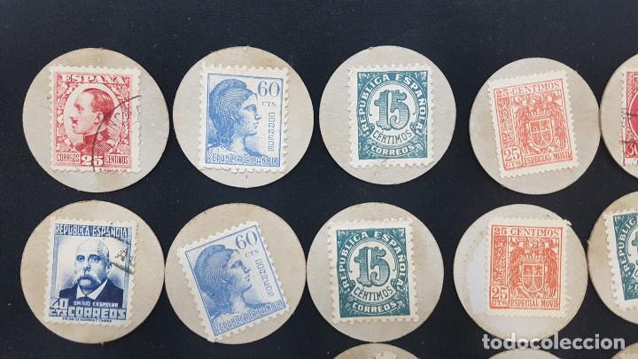 Reproducciones billetes y monedas: CARTON MONEDA USO PROVISIONAL 47 DIFERENTES DE GUADALAJARA (ver fotos) - Foto 9 - 245436170