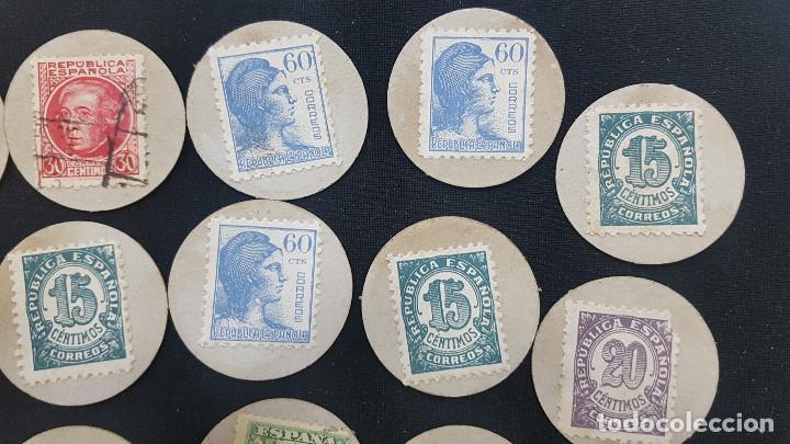 Reproducciones billetes y monedas: CARTON MONEDA USO PROVISIONAL 47 DIFERENTES DE GUADALAJARA (ver fotos) - Foto 10 - 245436170