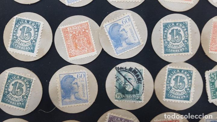 Reproducciones billetes y monedas: CARTON MONEDA USO PROVISIONAL 47 DIFERENTES DE GUADALAJARA (ver fotos) - Foto 11 - 245436170