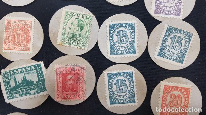 Reproducciones billetes y monedas: CARTON MONEDA USO PROVISIONAL 47 DIFERENTES DE GUADALAJARA (ver fotos) - Foto 12 - 245436170