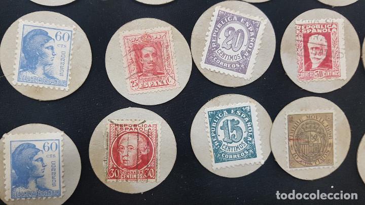 Reproducciones billetes y monedas: CARTON MONEDA USO PROVISIONAL 47 DIFERENTES DE GUADALAJARA (ver fotos) - Foto 13 - 245436170