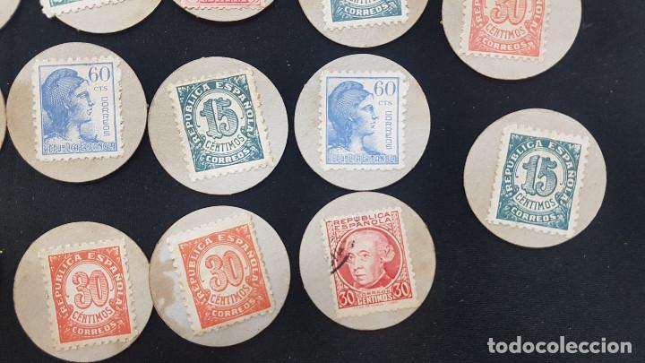 Reproducciones billetes y monedas: CARTON MONEDA USO PROVISIONAL 47 DIFERENTES DE GUADALAJARA (ver fotos) - Foto 14 - 245436170