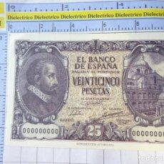 Reproducciones billetes y monedas: BILLETE FACSÍMIL. COLECCIÓN TODOS LOS BILLETES DE LA PESETA. MADRID 9 ENERO 1940 25 PESETAS. Lote 245937500
