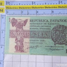 Reproducciones billetes y monedas: BILLETE FACSÍMIL. COLECCIÓN TODOS LOS BILLETES DE LA PESETA. 1937 1 PESETAS. Lote 245939240
