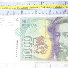 Reproducciones billetes y monedas: BILLETE FACSÍMIL. COLECCIÓN TODOS LOS BILLETES DE LA PESETA. MADRID 12 OCTUBRE 1992 1000 PESETAS. Lote 245939520