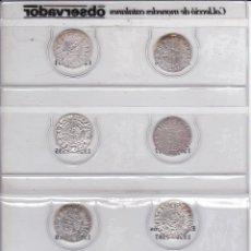 Reproducciones billetes y monedas: COLECCION COMPLETA DE 8 MONEDAS CATALANAS DE PLATA (GRANDES REYES) EL OBSERVADOR. Lote 247692335