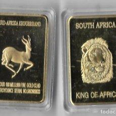 Reproducciones billetes y monedas: LINGOTE ORO -- 1967 FYNGOUD CHAPADA EN ORO 999 FINA DE SUDÁFRICA, 100 MOLINOS DE ORO GRUESO,. Lote 247986830