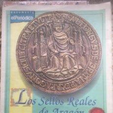 Reproduções notas e moedas: SELLOS REALES DE ARAGÓN. COLECCIÓN COMPLETA. 12 PIEZAS. EL PERIÓDICO. Lote 248114480