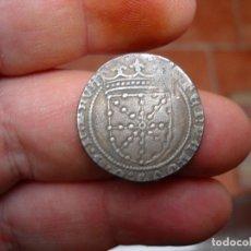 Reproducciones billetes y monedas: FERNANDO V.REAL DE PLATA.NAVARRA.ESCASA.REPRODUCCION EN PLATA. Lote 248968515