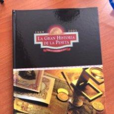 Reproducciones billetes y monedas: GRAN HISTORIA DE LA PESETA 1869 2001. Lote 249503040