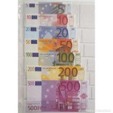 Reproducciones billetes y monedas: FACSÍMIL DE LOS BILLETES ZONA EURO DEL EUROPEAN MONETARY INSTITUTE, 1997. Lote 252613330