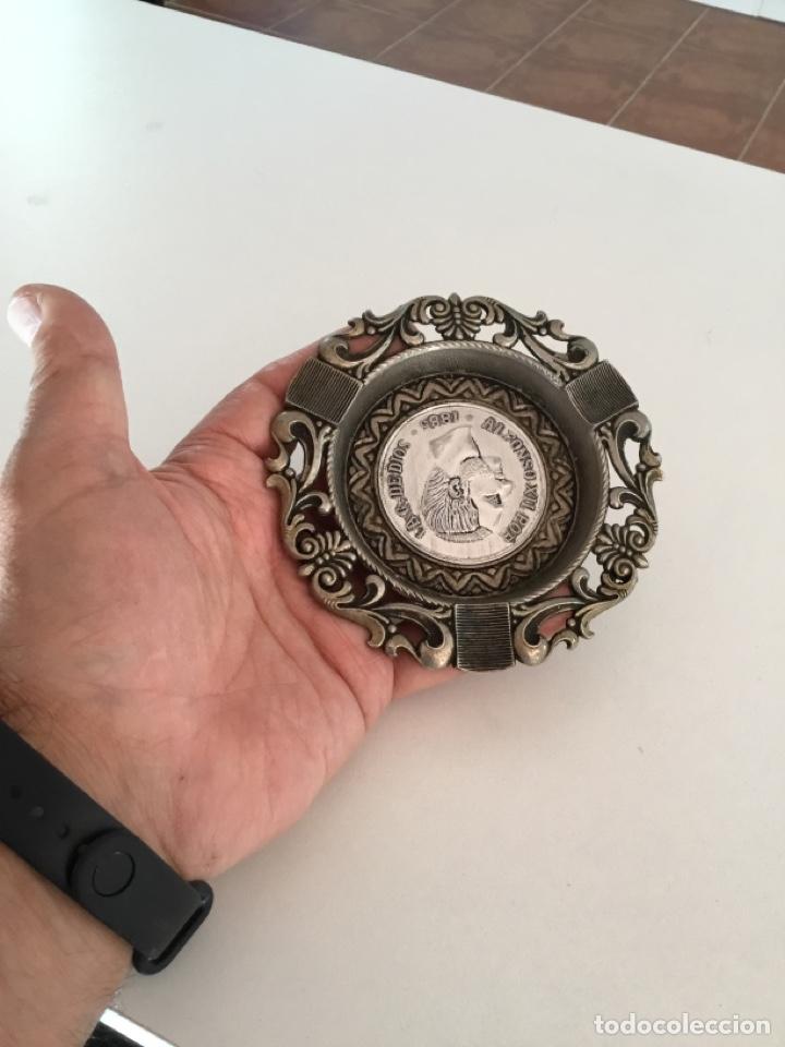 Reproducciones billetes y monedas: Alfonso XIII Moneda Cenicero Metal - Foto 7 - 253352190