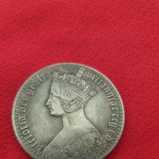 Reproducciones billetes y monedas: MONEDA 1 CORONA REINA VICTORIA. Lote 253364835