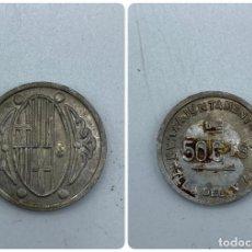 Reproducciones billetes y monedas: MONEDA. AJUNTAMENT L'AMETLLA DEL VALLES. 50 CTS. BARCELONA. BONITA Y RARA MONEDA. COPIA. VER. Lote 253422530