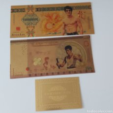 Reproductions billets et monnaies: ESPECTACULAR LOTE INCLUYENDO 2 BILLETES DEL QUERIDO BRUCE LEE. EN VENTA DIRECTA 39 EUROS!. Lote 253722995