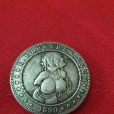 Reproducciones billetes y monedas: MONEDA ONE DOLLAR 1890. Lote 253997145