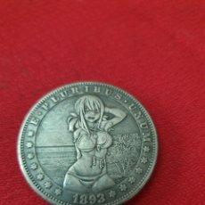 Reproducciones billetes y monedas: MONEDA ONE DOLLAR 1893. Lote 253997700