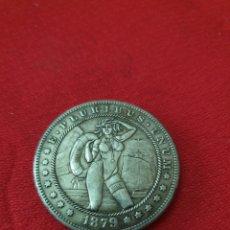 Reproducciones billetes y monedas: MONEDA ONE DOLLAR 1879. Lote 253999200