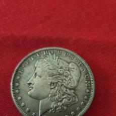 Reproducciones billetes y monedas: MONEDA ONE DOLLAR 1878. Lote 254004640