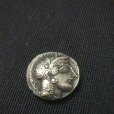 Reproducciones billetes y monedas: MONEDA GRIEGO TETRADRACHM. Lote 257741465