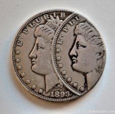 Riproduzioni banconote e monete: USA MORGAN ONE DOLLAR 1893 ERROR DE MONEDA - 37.MM DIAMETRO - 26.45.GRAMOS. Lote 258037380