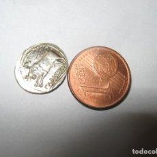 Riproduzioni banconote e monete: GRIECHISCHE MÜNZE 1,39 G SILBER. GEFUNDEN IN DEN RUINEN VON ǴLANUM FRANKREICH.. Lote 258041155
