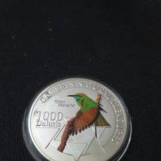 Reproducciones billetes y monedas: MONEDA ONZA 1000 DALASIS 2015 REPÚBLIC OF GAMBIA. Lote 275618163