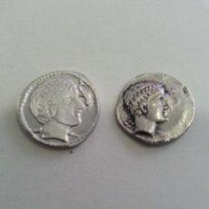 Reproducciones billetes y monedas: ORIGINAL Y REPRODUCCIÓN MONEDA THOUROI, CIRCA 390 A.C. ESTÁTER DE PLATA. DE GRECIA. VER FOTOS.. Lote 259045490