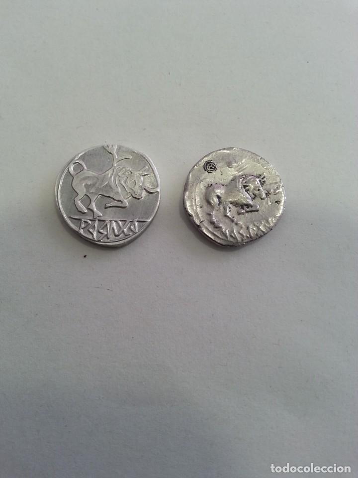 Reproducciones billetes y monedas: ORIGINAL Y REPRODUCCIÓN MONEDA THOUROI, CIRCA 390 A.C. ESTÁTER DE PLATA. DE GRECIA. VER FOTOS. - Foto 2 - 259045490