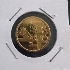 Reproducciones billetes y monedas: MONEDA DORADA OLIMPIADAS MEXICO AÑO 1968. Lote 260284555