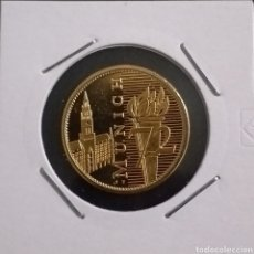 Reproducciones billetes y monedas: MONEDA DORADA OLIMPIADAS MUNICH AÑO 1972. Lote 260284805