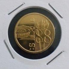 Reproducciones billetes y monedas: MONEDA DORADA OLIMPIADAS SEUL AÑO 1988. Lote 260287825