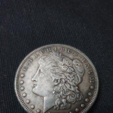 Reproduções notas e moedas: MONEDA ONE DOLLAR 1879. Lote 260608495