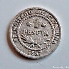 Reproducciones billetes y monedas: MONEDA DE LA PESETA AL EURO DE LA VANGUARDIA - 22.MM DIAMETRO - 3.9 A 4.2.GRAMOS APROX. Lote 260737195